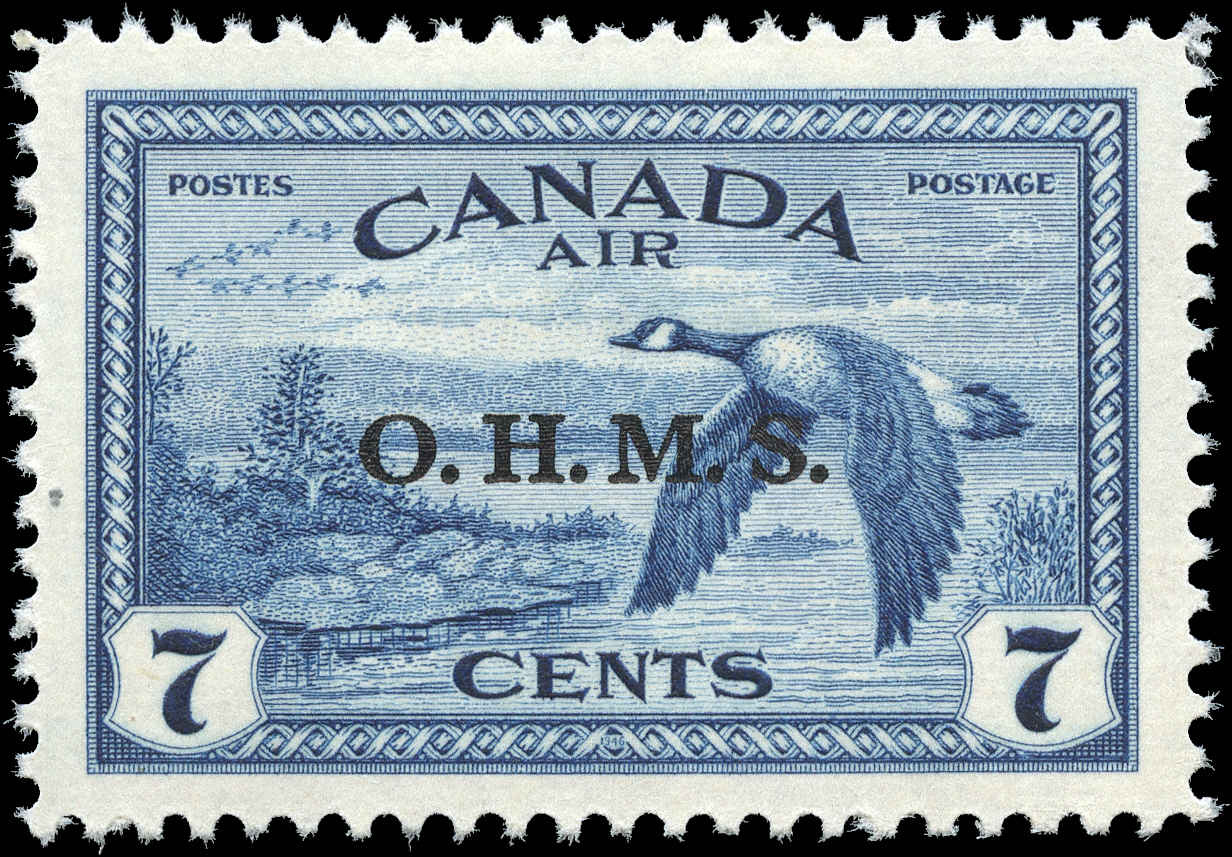 Canada #CO1, Overprint Stamp, VF, MH