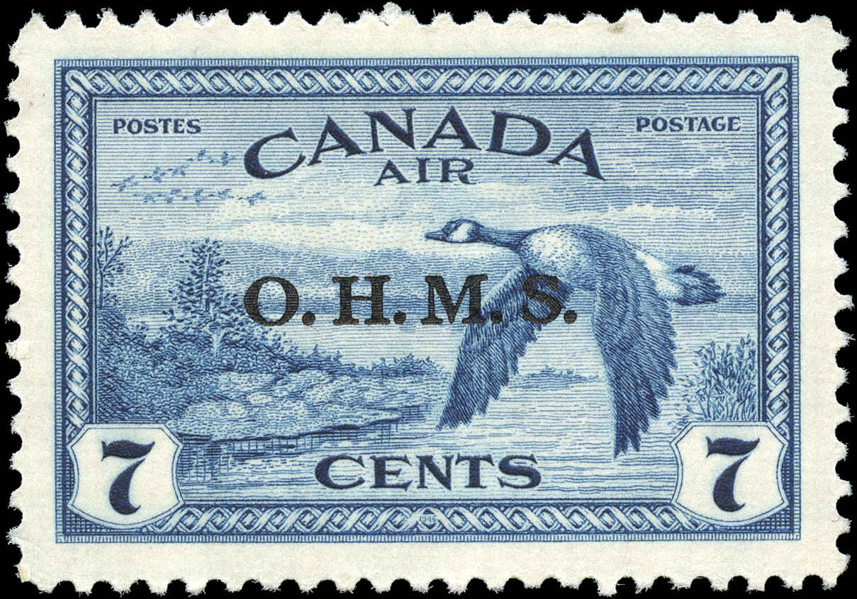 Canada #CO1, Overprint Stamp, VF, MNH