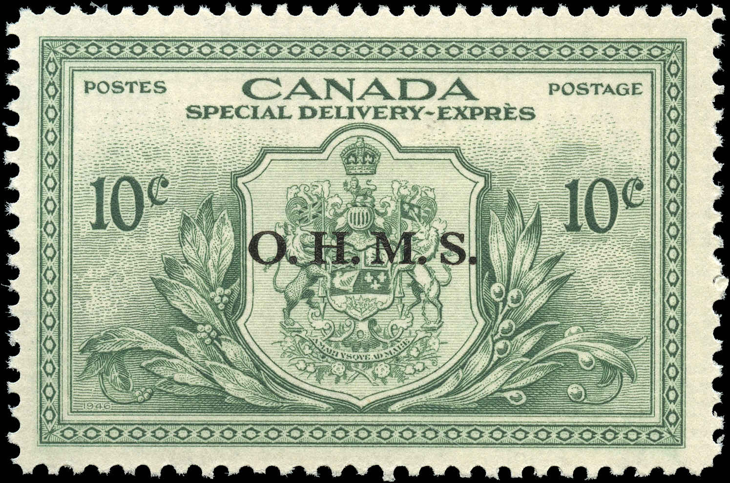 Canada #EO1, Overprint Stamp, F-VF, MH
