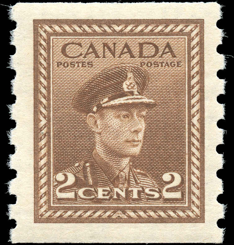 Canada #279, War Issue Coil, VF, MNH
