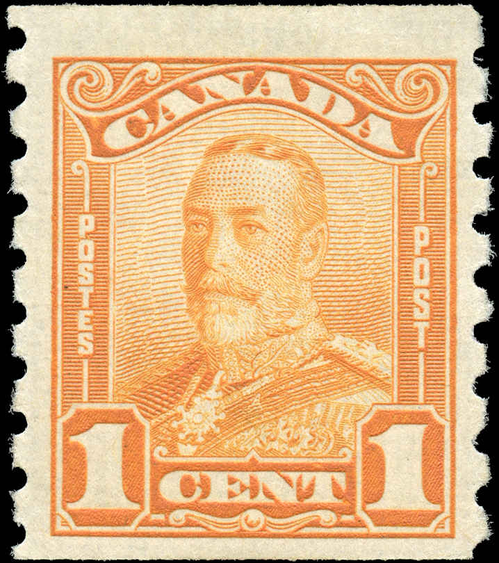 Canada #160, Coil Scroll Issue, F+, MH