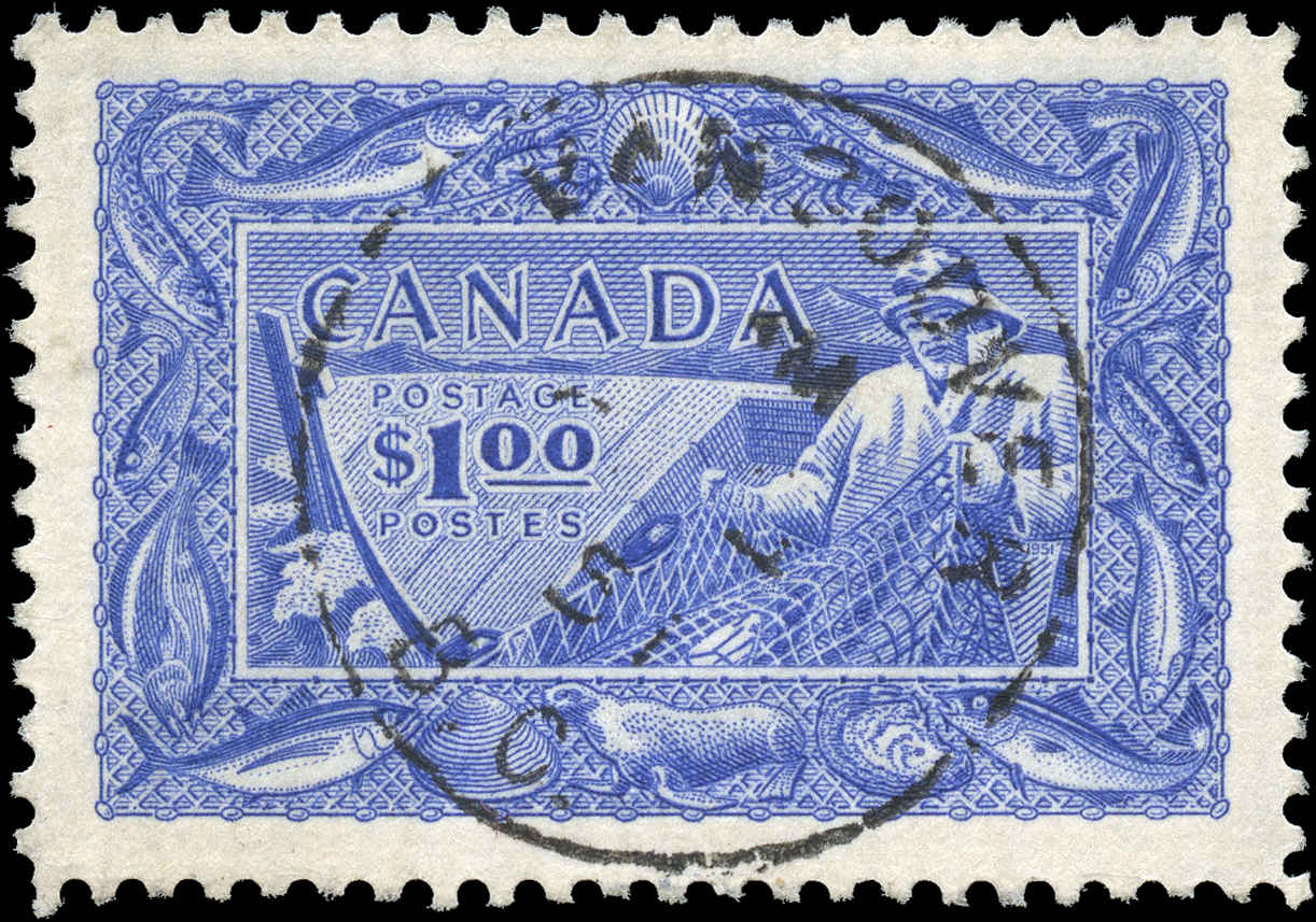 Canada #302, Fish Resources Issue, F-VF, Used