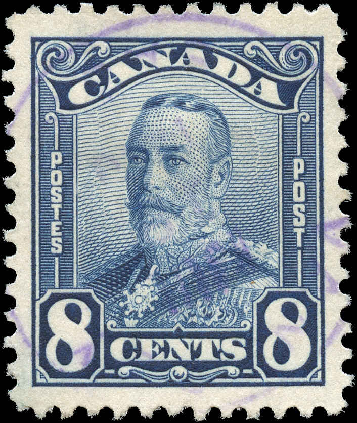 Canada #154, Scroll Issue, VF, Used