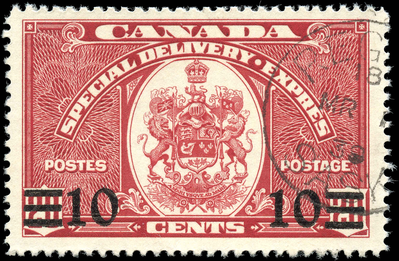 Canada #E9, Special Delivery Issue, F-VF, Used