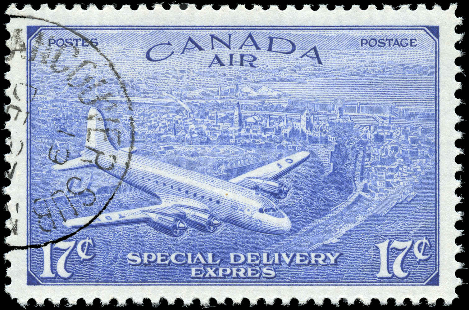 Canada #CE4, Air Mail Special D Issue, F-VF, Used