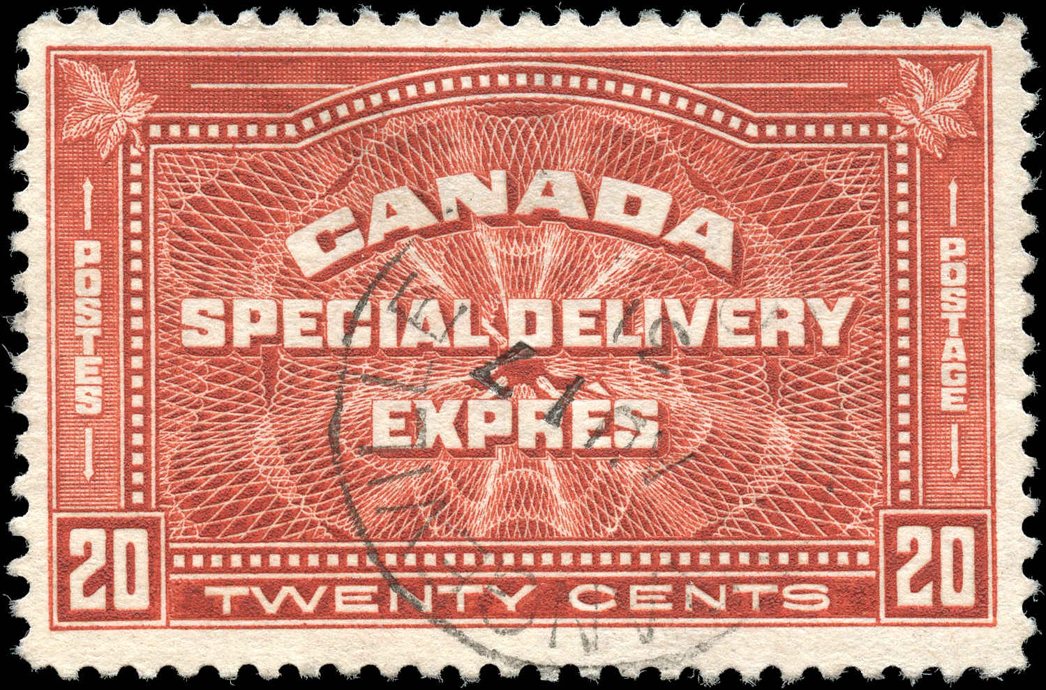 Canada #E4, Special Delivery Issue, F+, Used