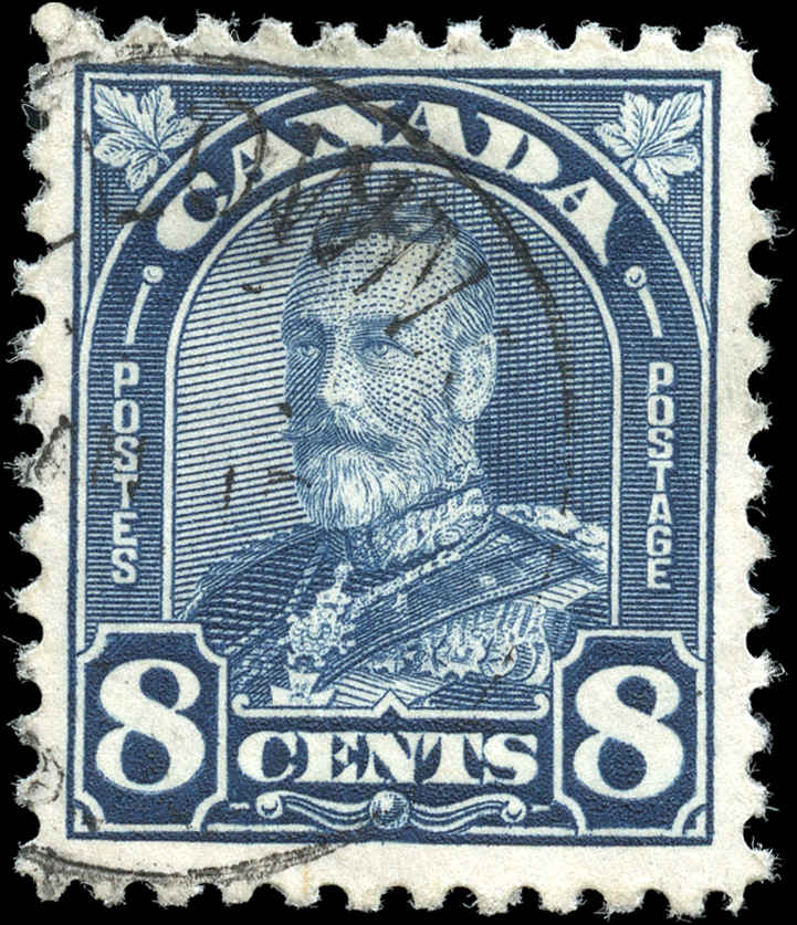 Canada #171, Arch/Leaf Issue, F+, Used