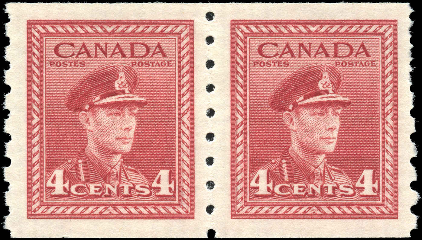 Canada #267, War Issue Coil, VF, MNH