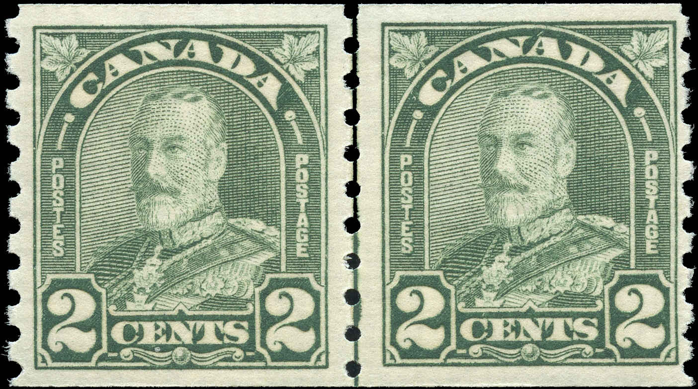 Canada #180i, Coil Arch/Leaf Issue, F-VF, MNH