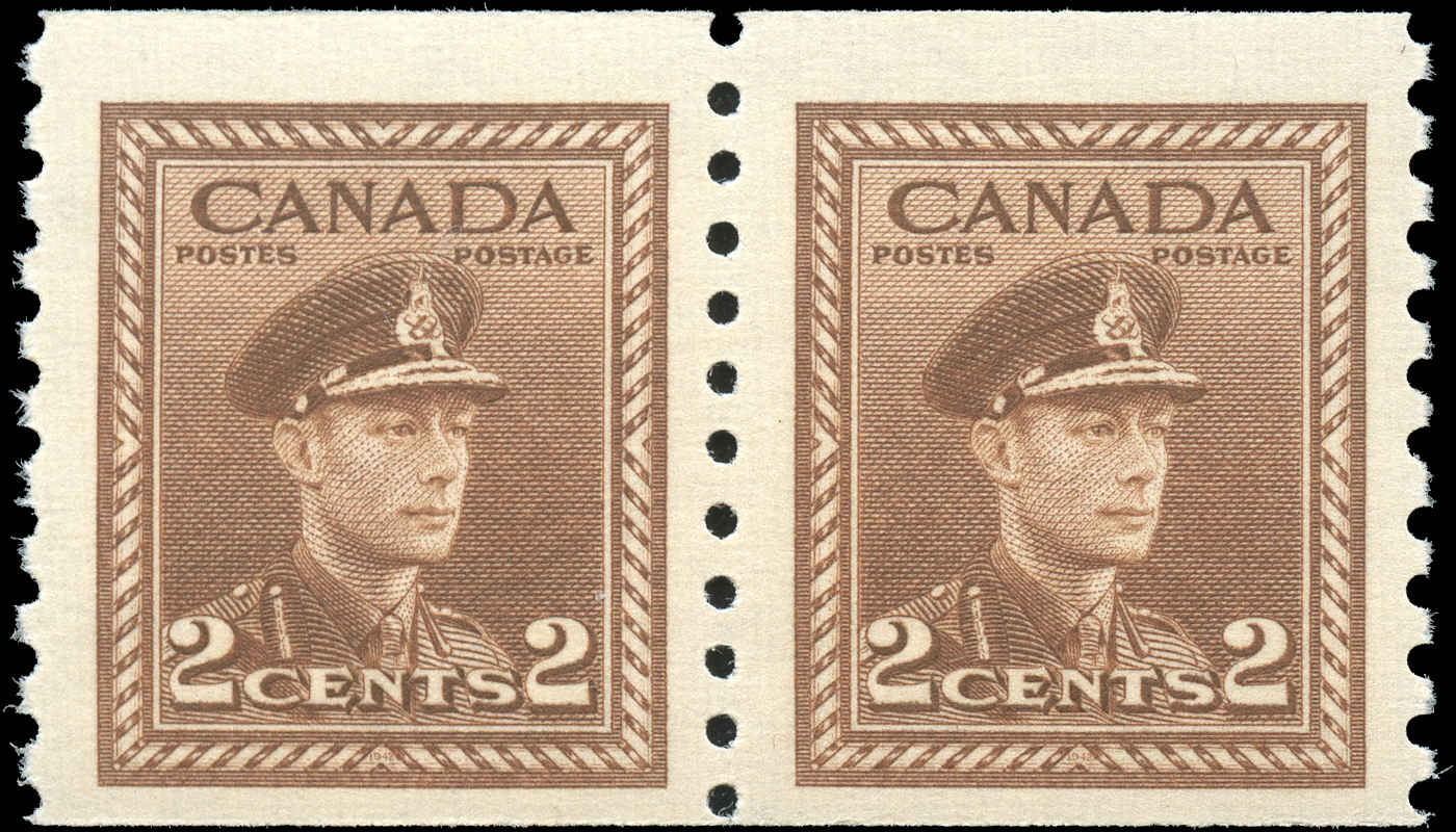 Canada #279, War Issue Coil, F+, MNH