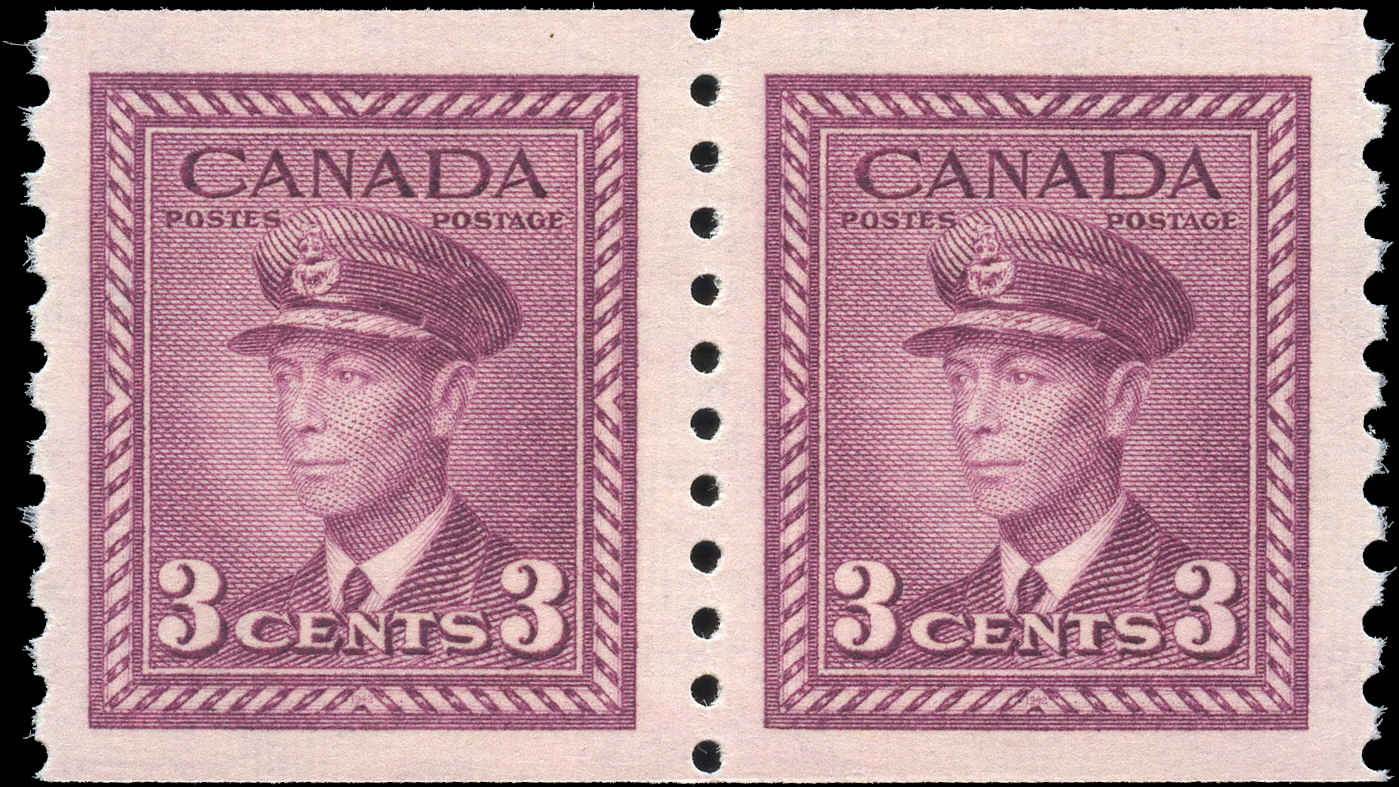 Canada #280, War Issue Coil, VF, MNH