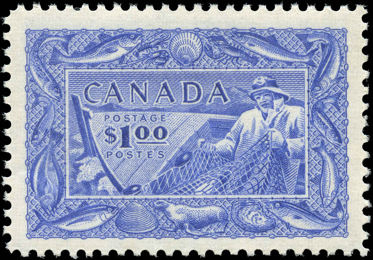 Canada #302, Fish Resources Issue, VF, MH