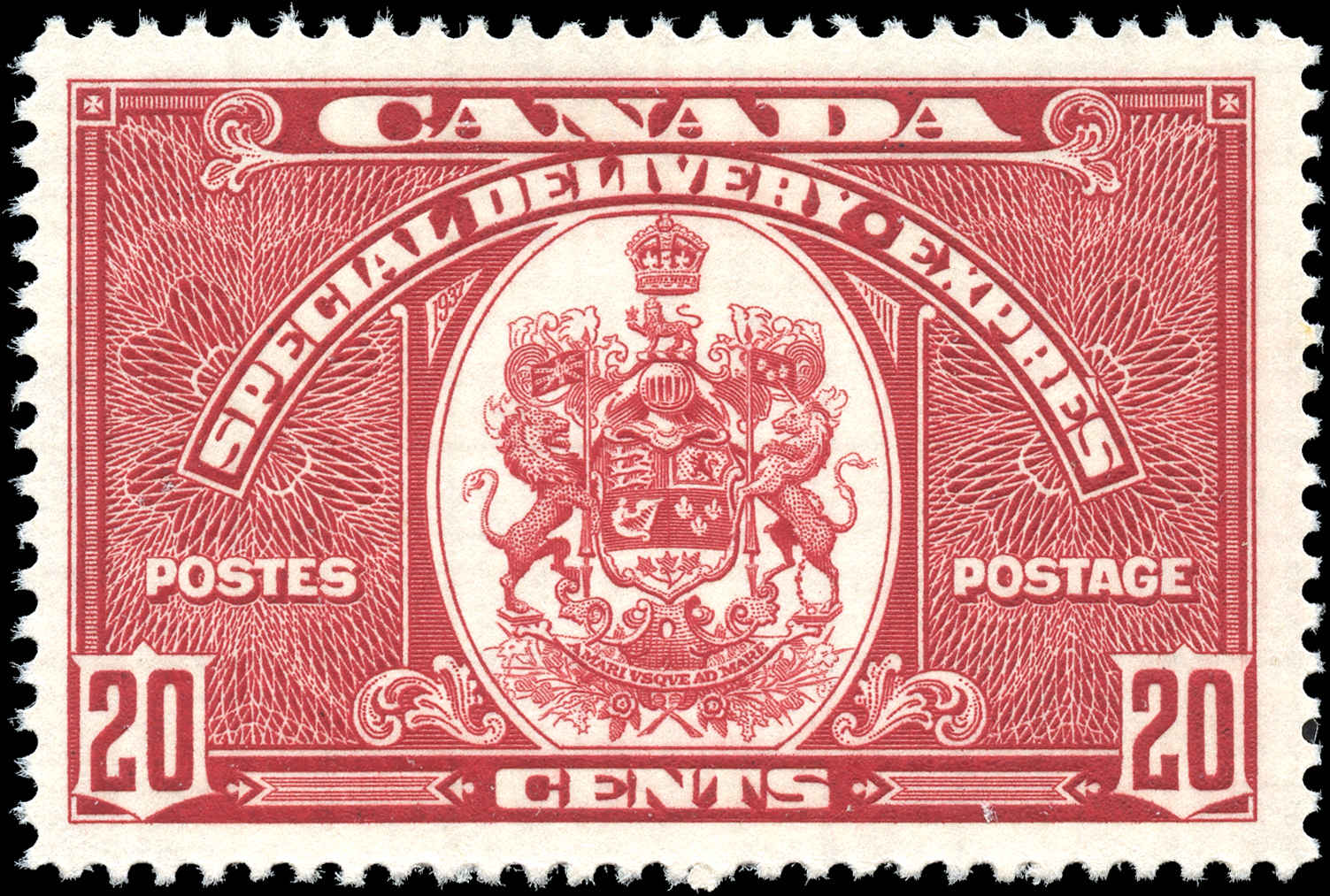 Canada #E8, Special Delivery Issue, VF, MH