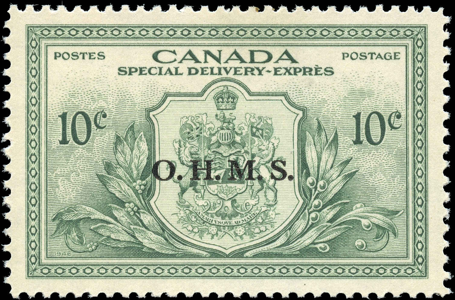 Canada #EO1, Overprint Stamp, VF, MNH