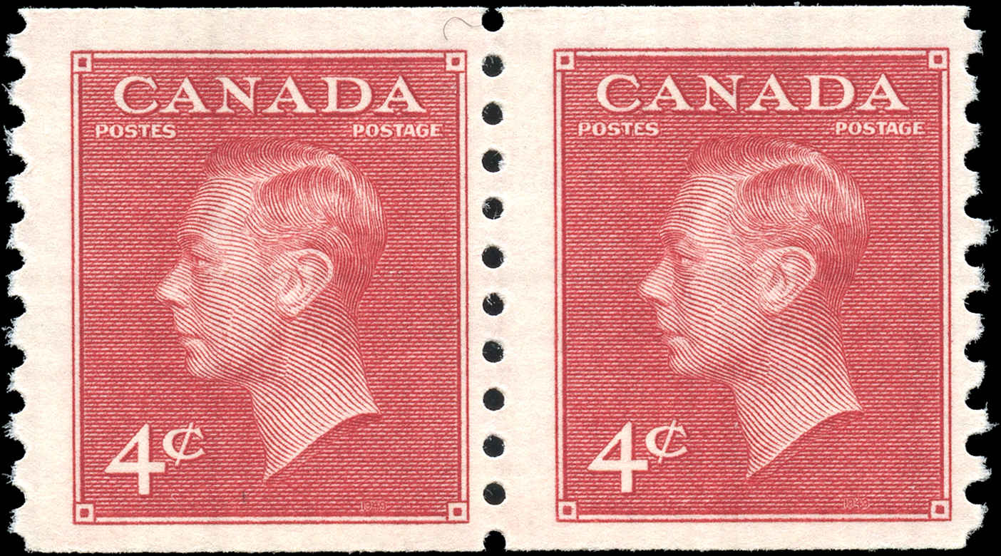 Canada #300, Coil Pte-Ptage Issue, F+, MH