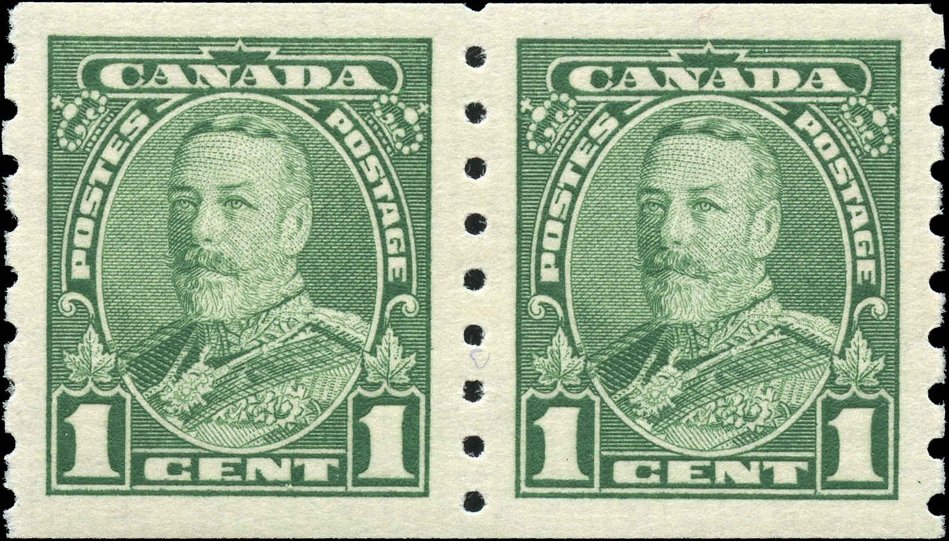 Canada #228, Coil Pictorial Issue, VF, MH