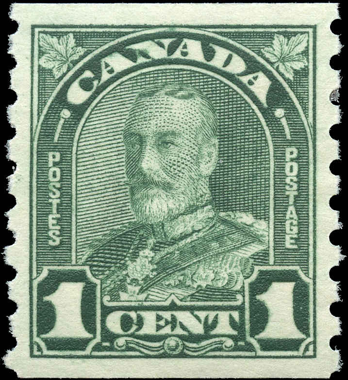 Canada #179, Coil Arch/Leaf Issue, VF, MNH