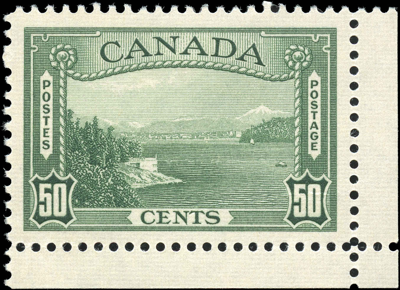 Canada #244, 1938 Pictorial Issue, VF, MH