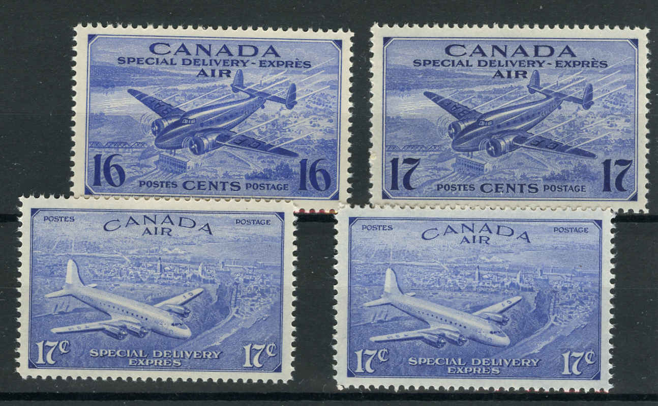 Canada #CE1-4, Air Mail Special D Issue, VF, MNH