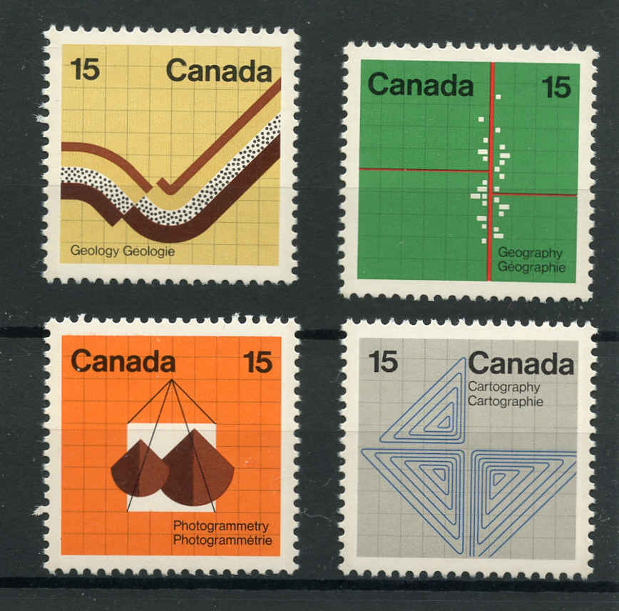 Canada #582-85p, Earth Sciences Issue, VF, MNH