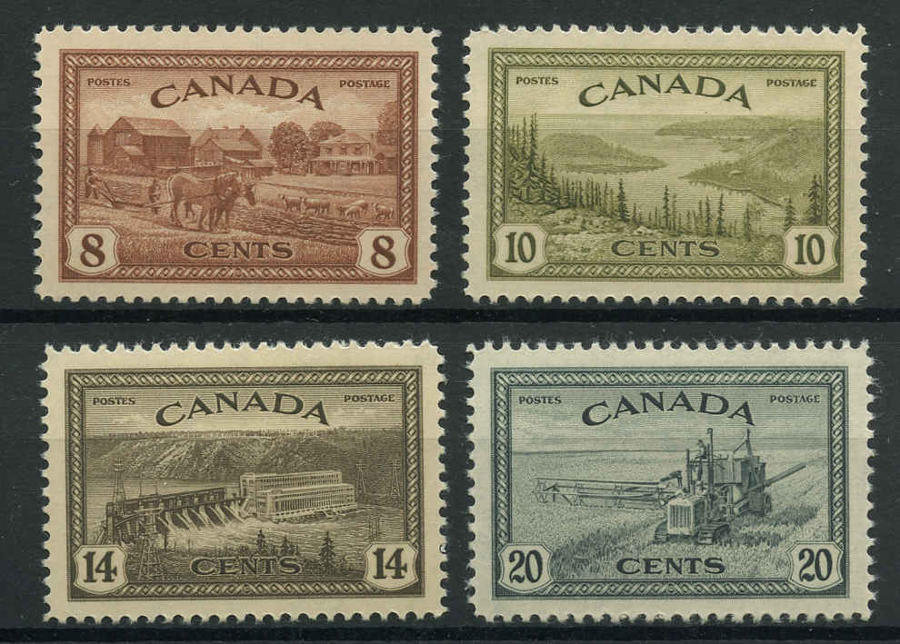 Canada #268-271, Peace Issue, VF, MNH