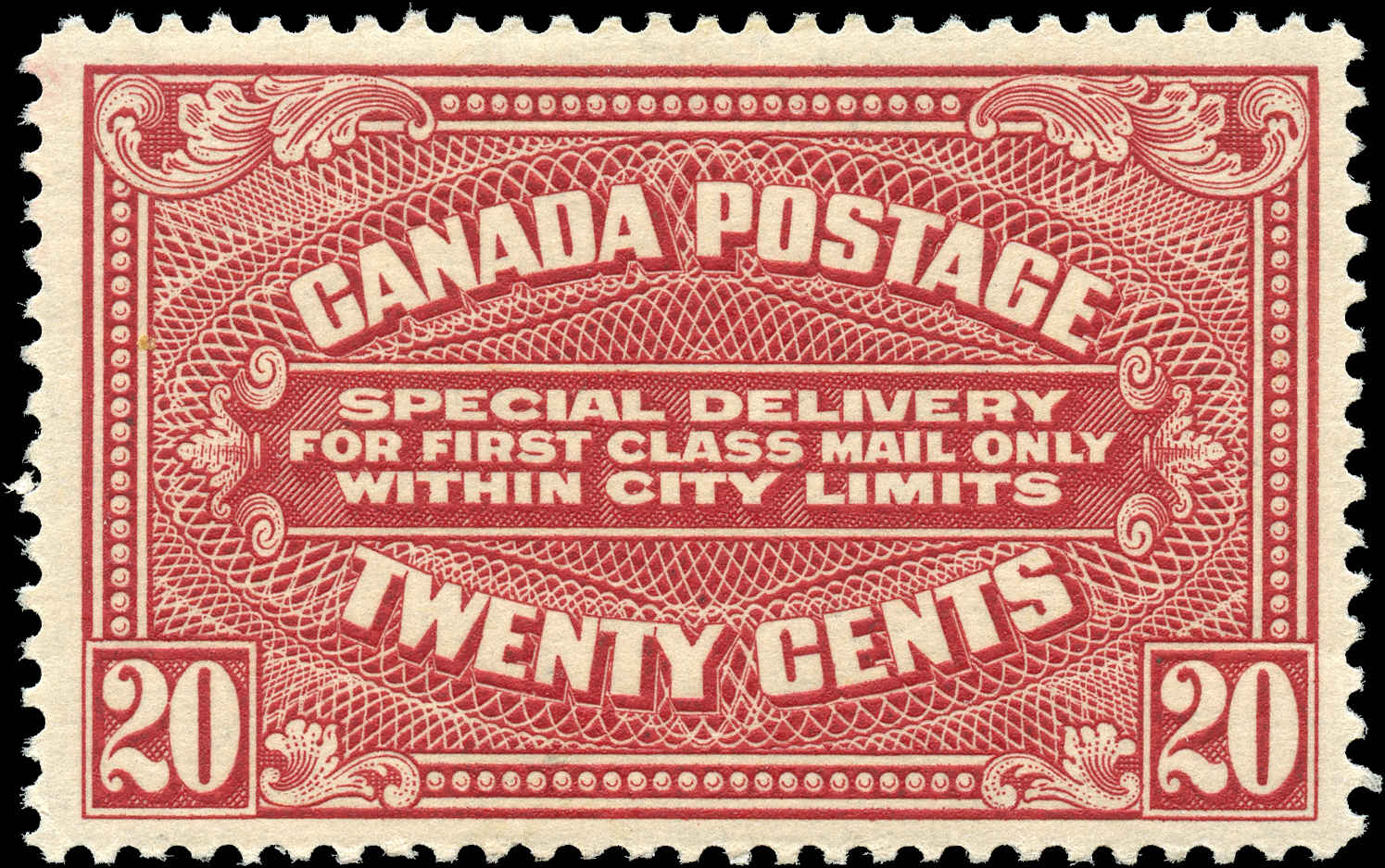 Canada #E2, Special Delivery Issue, F-VF, MH