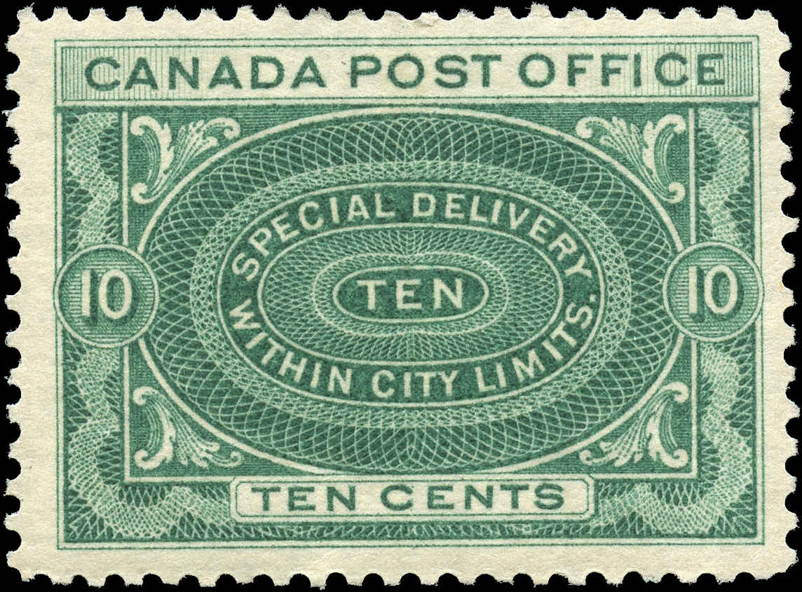 Canada #E1, Special Delivery Issue, F+, MH