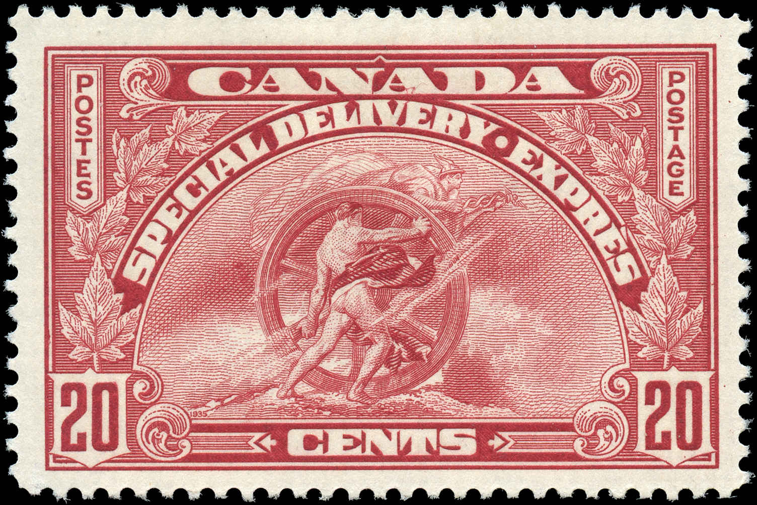 Canada #E6, Special Delivery Issue, F-VF, MH