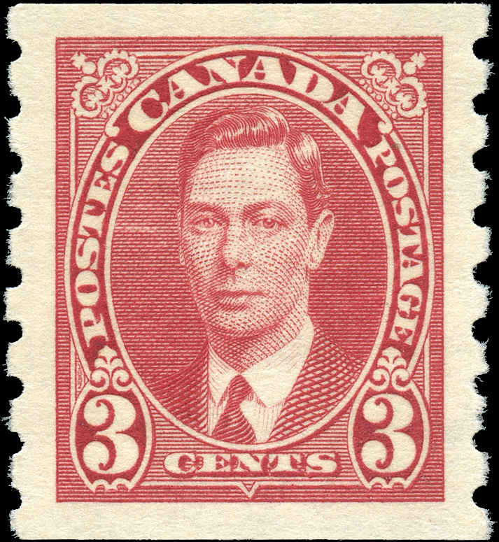 Canada #240, KGVI Coil Issue, VF, MNH