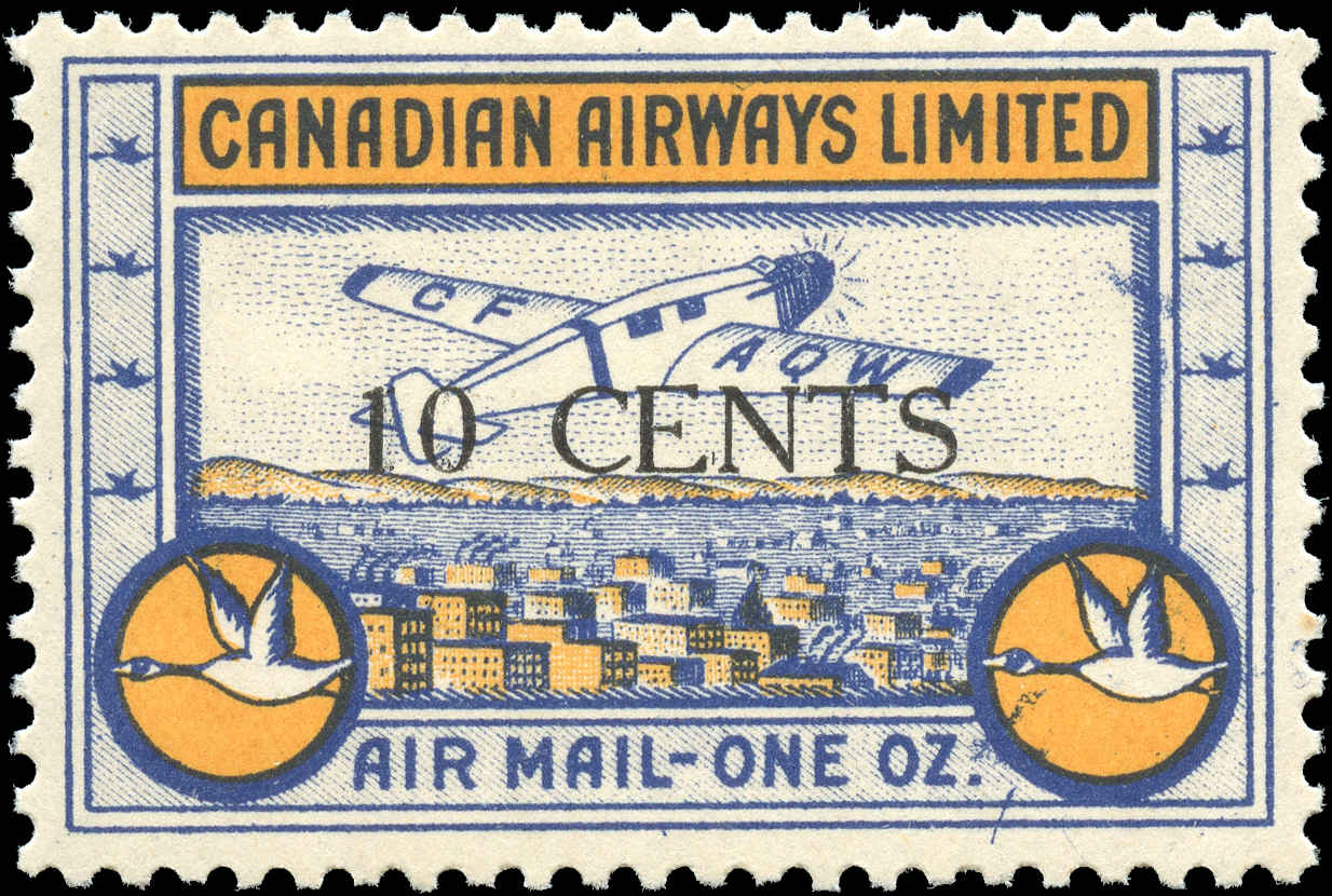 Canada #CL52, Air Post Semi-Offl, F-VF, MNH