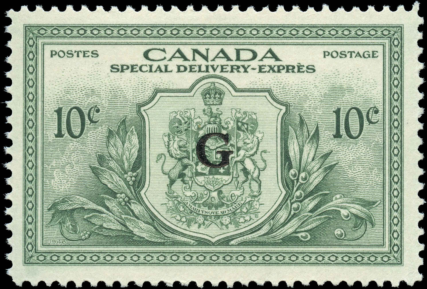 Canada #EO2, Overprint Stamp, VF, MH