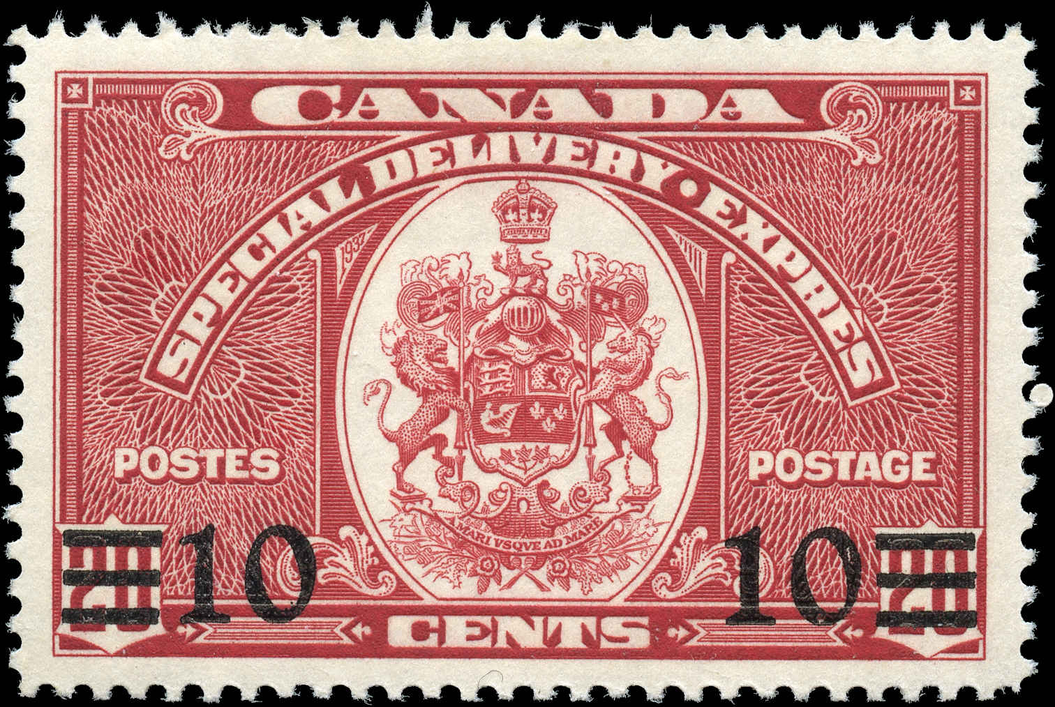 Canada #E9, Special Delivery Issue, F-VF, MH