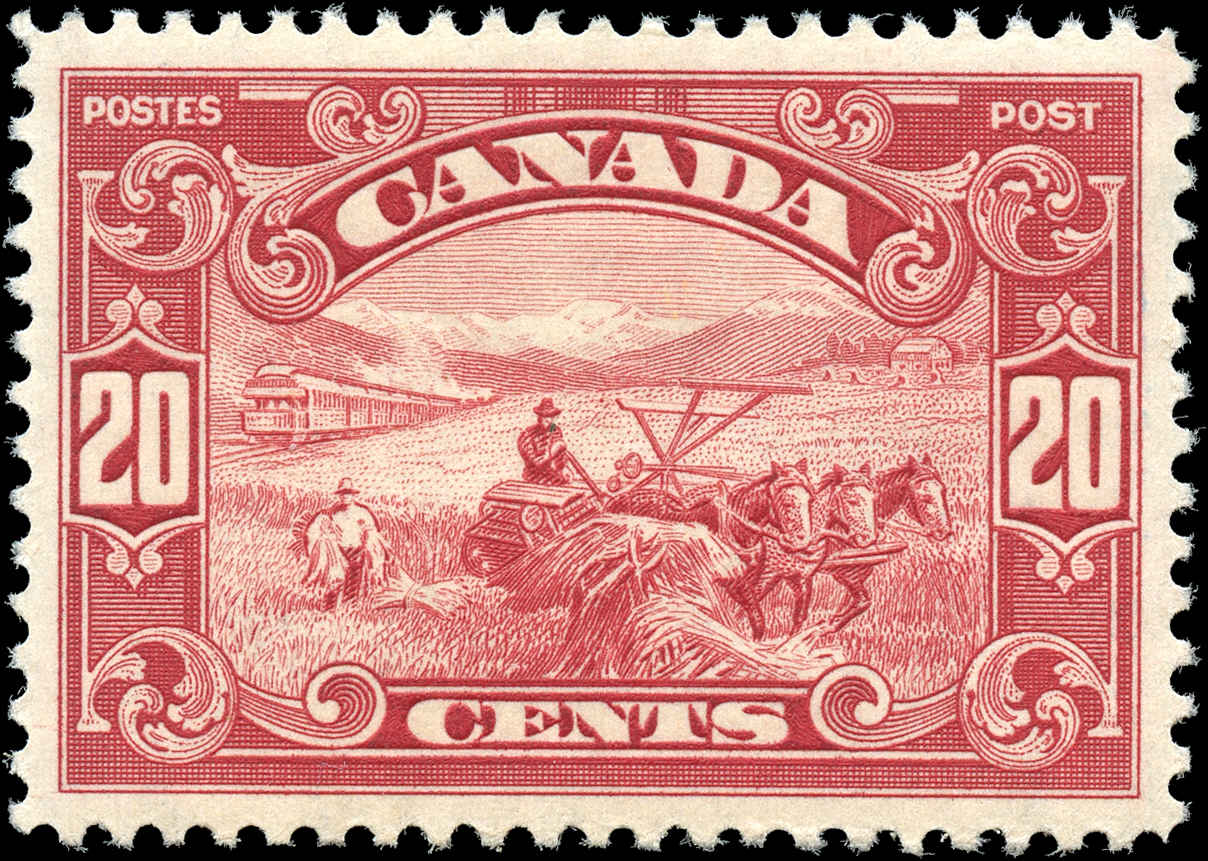 Canada #157, Scroll Issue, VF, MH