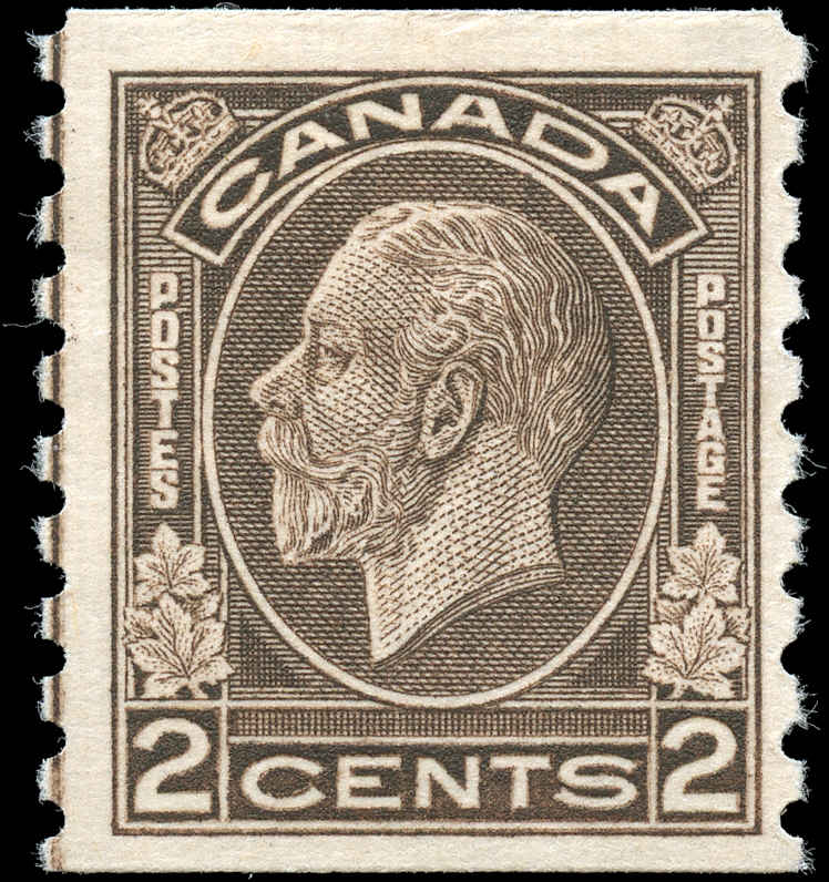 Canada #206i, Coil Medallion Issue, F+, MH