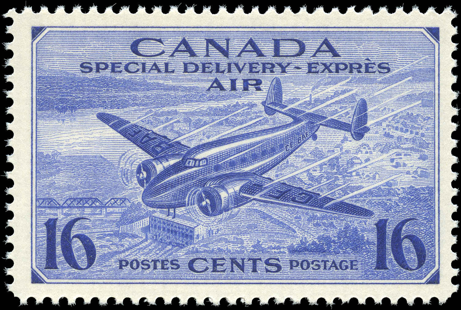 Canada #CE1, Air Mail Special D Issue, F-VF, MNH