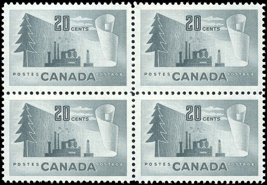 Canada #316, Forest Product Issue, VF, MH