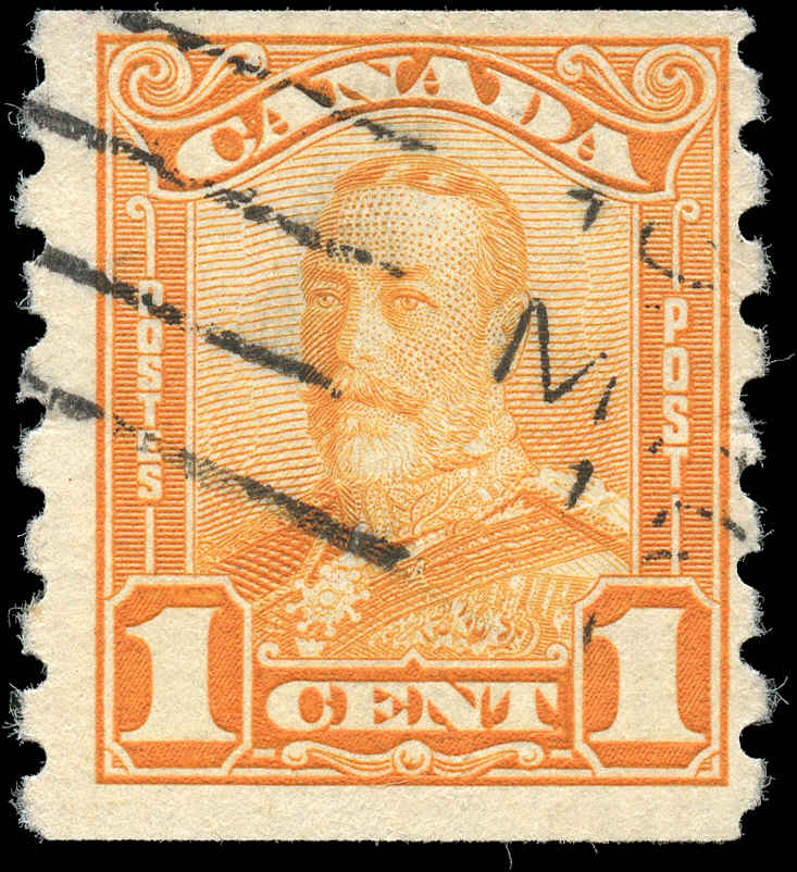 Canada #160, Coil Scroll Issue, F+, Used