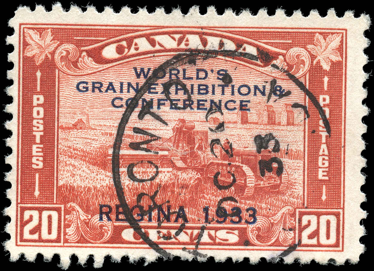 Canada #203, Grain Issue, F+, Used