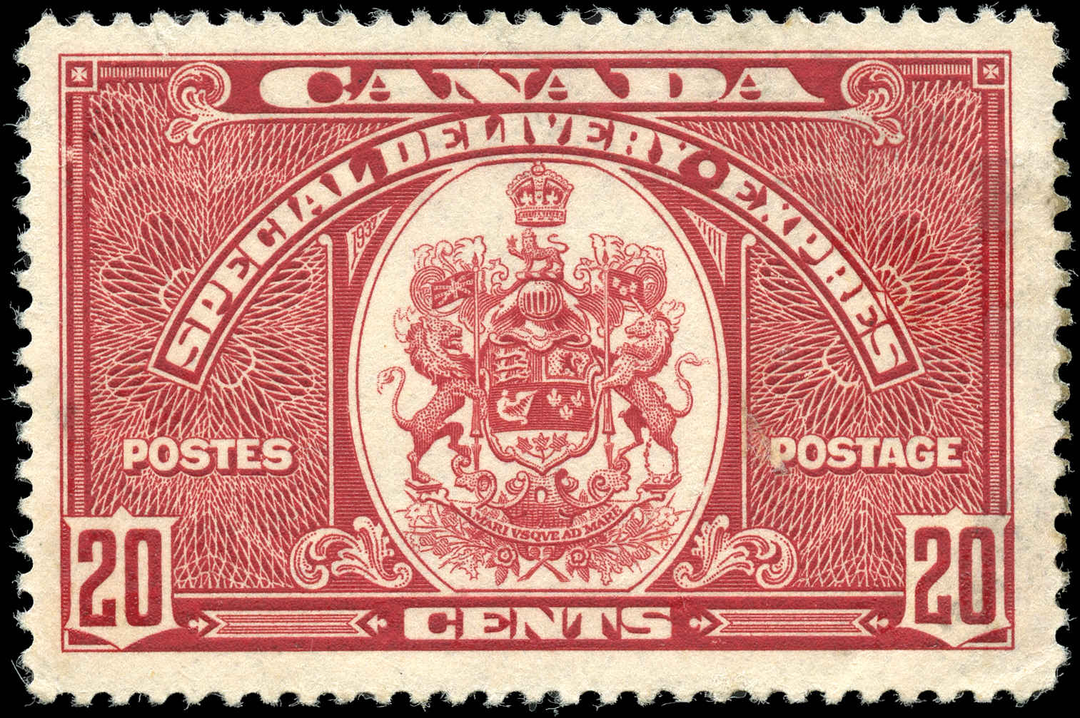 Canada #E8, Special Delivery Issue, F-VF, Used