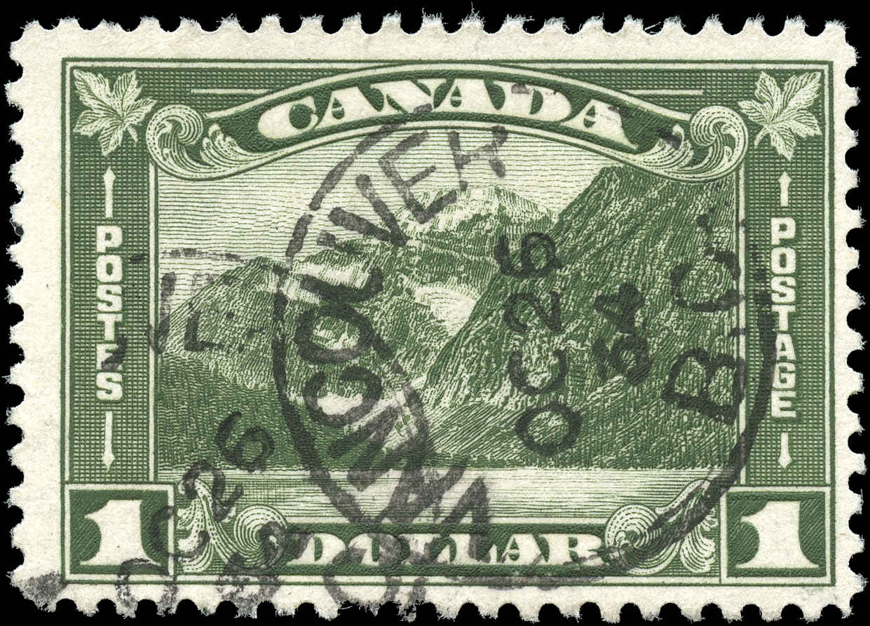 Canada #177, Arch/Leaf Issue, F+, Used