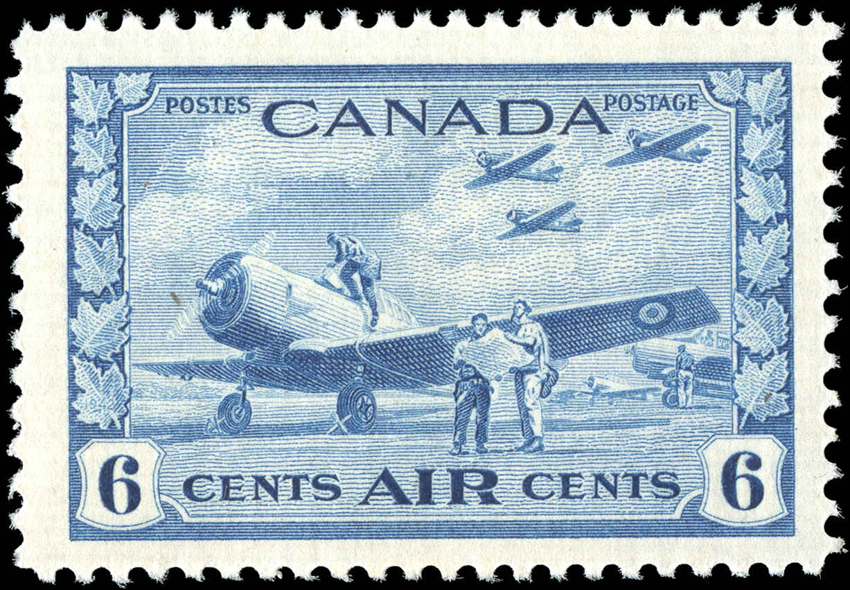 Canada #C7, Airmail Issue, F+, MH