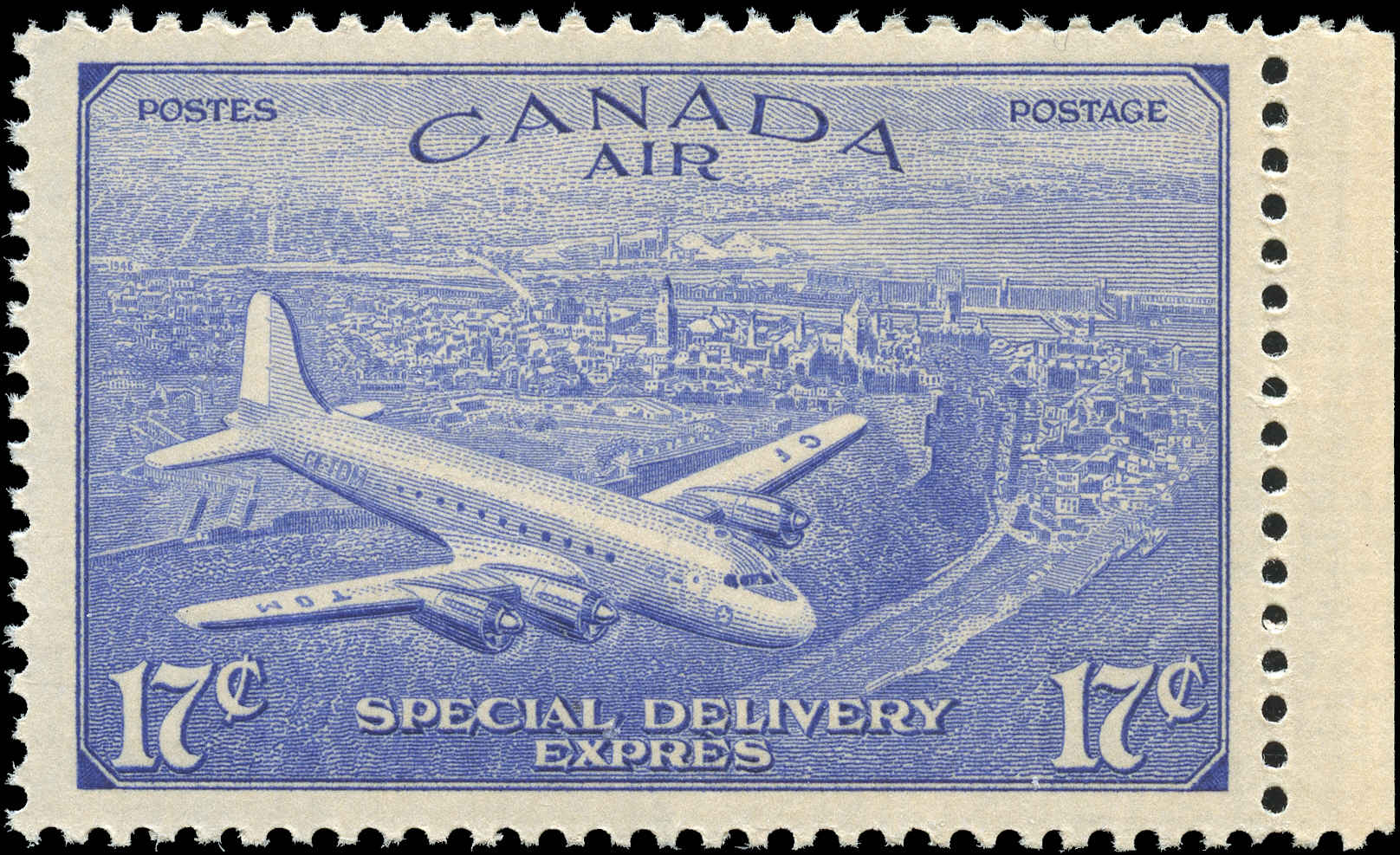 Canada #CE4, Air Mail Special D Issue, F-VF, MH