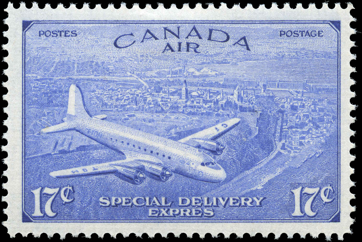Canada #CE3, Air Mail Special D Issue, F-VF, MH