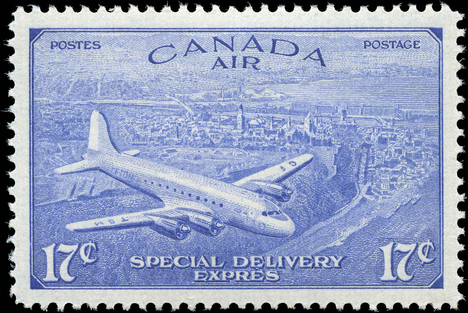 Canada #CE4, Air Mail Special D Issue, VF, MH