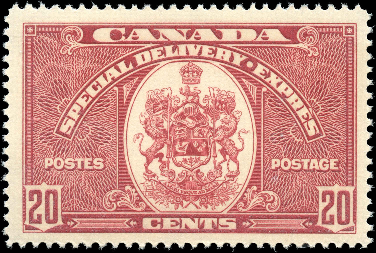 Canada #E8, Special Delivery Issue, F-VF, MH
