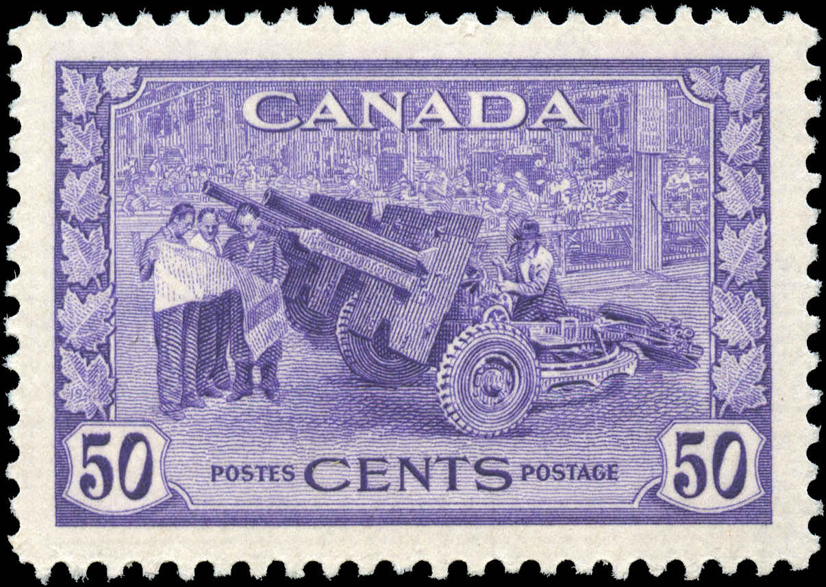 Canada #261, War Issue, VF, MH