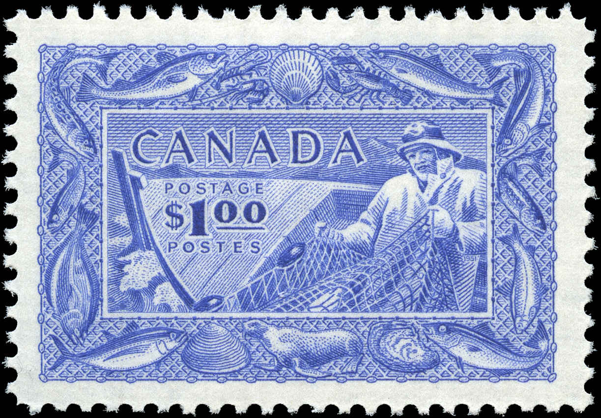 Canada #302, Fish Resources Issue, VF, MNH