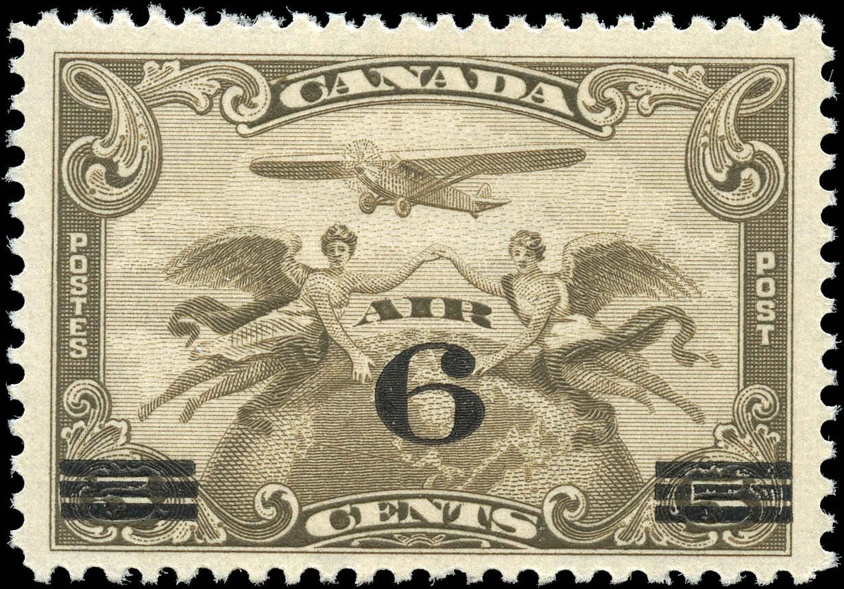 Canada #C3, Airmail Issue, F+, MH