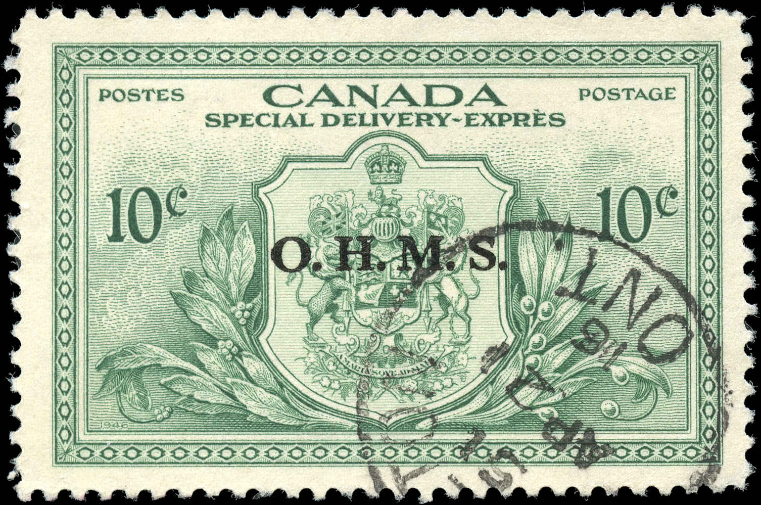 Canada #EO1, Overprint Stamp, VF, Used