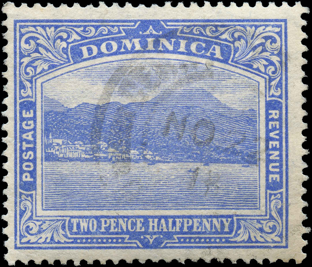 Dominica, ##53, F-VF, Used